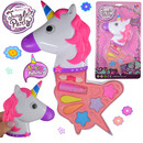Einhorn Kinderschminke Set Einhornkopf Make Up Pallette Schminke