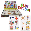 Tattoos Piraten 4cm Seeräuber Kindertattoo 6er Karte Hautsticker Mitgebsel